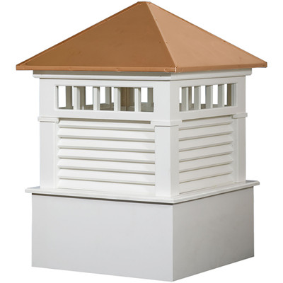 Select Waterford Vinyl Cupola With Transom Windows & Louvers