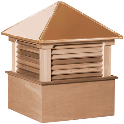 Select Hamlin Cedar Cupola With Louvers