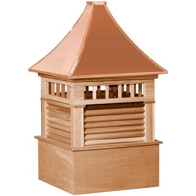 Select Norwood Cedar Cupola With Transom Windows & Louvers