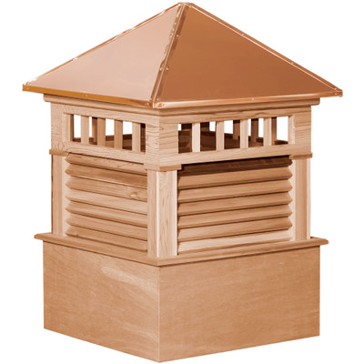 Select Waterford Cedar Cupola With Transom Windows & Louvers