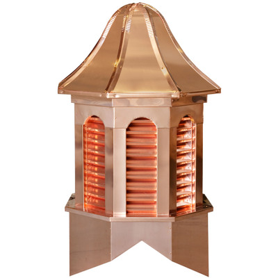 Estate Pinnacle Copper Cupola With Louvers