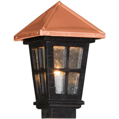 Colonial Copper Roof Black Lantern