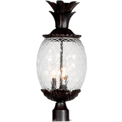Lanai Glass & Bronze Pineapple Lantern