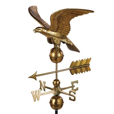 Smithsonian Eagle Golden Leaf Copper Weathervane