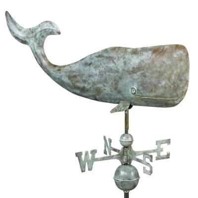Whale Verde Copper Weathervane