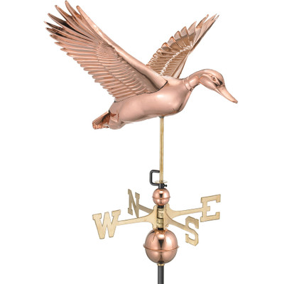 Flying Duck Copper Weathervane