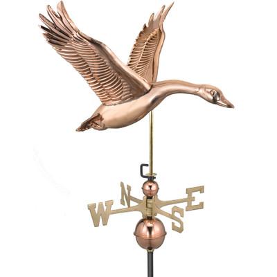 Feathered Goose Copper Weathervane