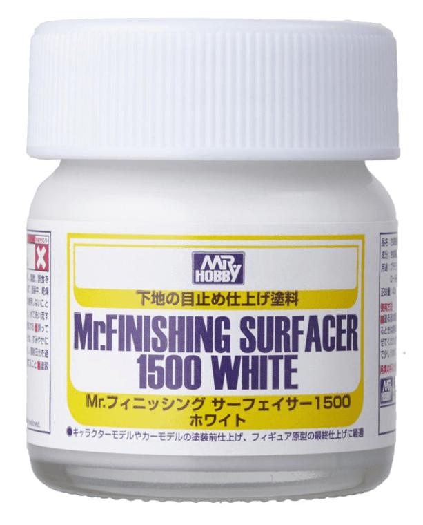 SF291 Mr. Finishing Surfacer 1500 White 40ml Bottle, GSI