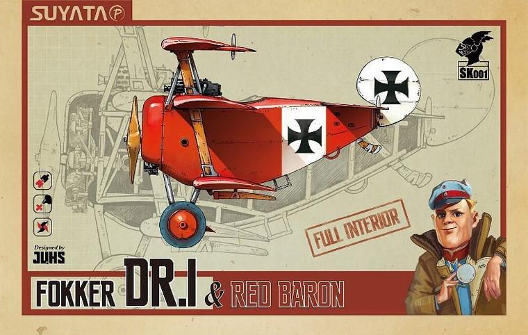 SUYSK001 Fokker Dr.I & Red Baron Cartoon Model