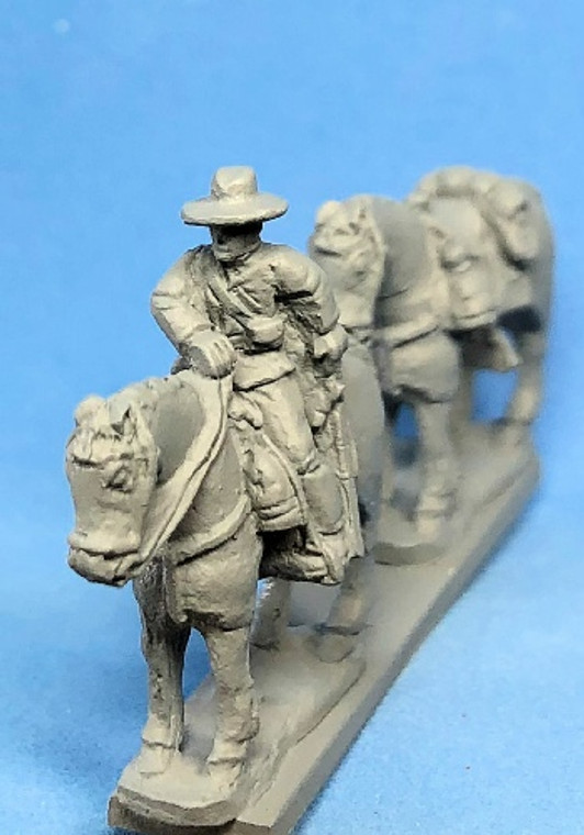 PIG020184 - Confederate Cavalry Mounted Horse Holders (4)