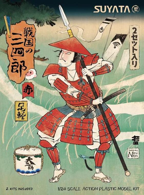 1/24 SANNSHIROU FROM THE SENGOKU-ASHIGARU WITH RED ARMOR