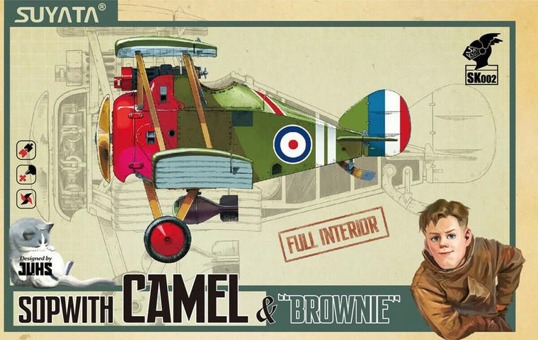 "SUYSK002 Sopwith Camel & ""Brownie"" Cartoon Model"