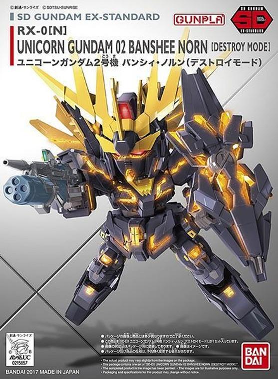 SD Gundam EX-Standard #015 Unicorn Gundam 02 Banshee Norn (Destroy Mode)