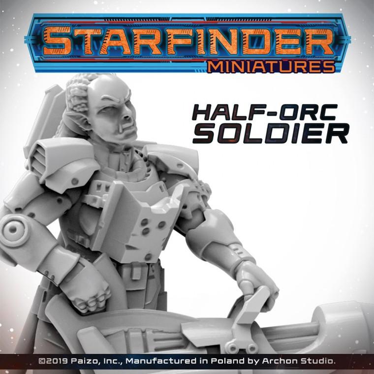 Starfinder: Half-Orc Soldier