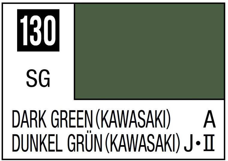 Mr. Color 130 Semi Gloss Dark Green - Kawasaki 10ml, GSI