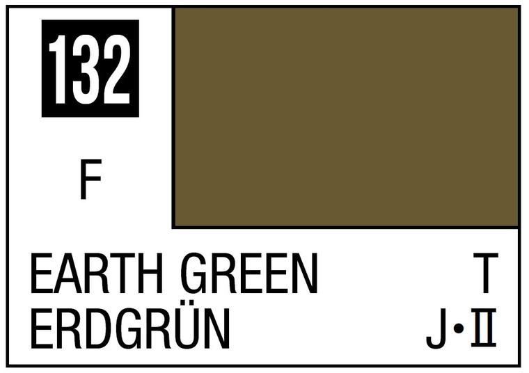 Mr. Color 132 Flat Earth Green 10ml, GSI