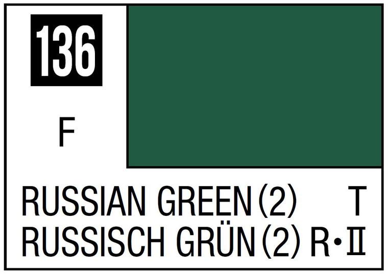 Mr. Color 136 Flat Russian Green (2) 10ml, GSI