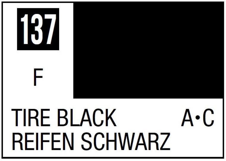 Mr. Color 137 Flat Tire Black 10ml, GSI