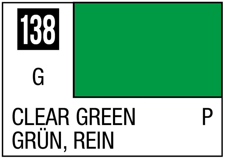 Mr. Color 138 Gloss Clear Green 10ml, GSI