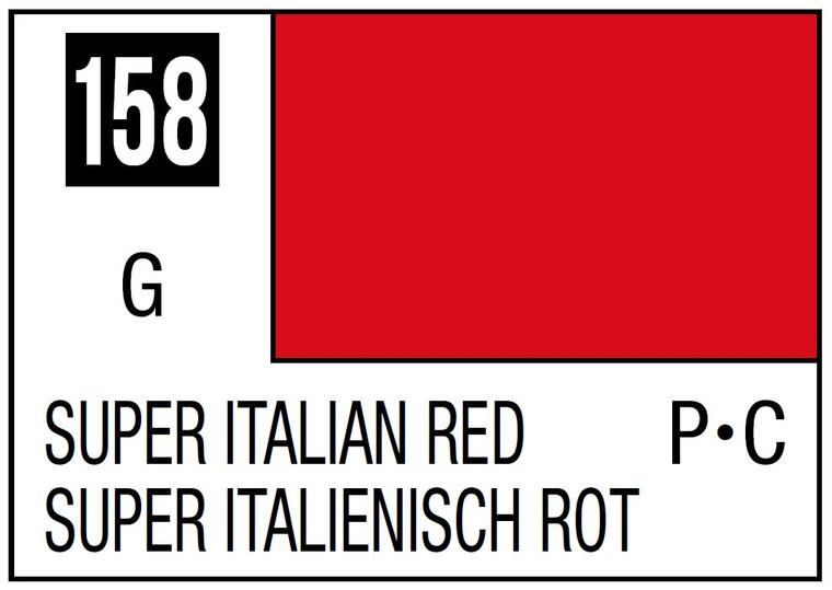 Mr. Color 158 Gloss Super Italian Red 10ml , GSI