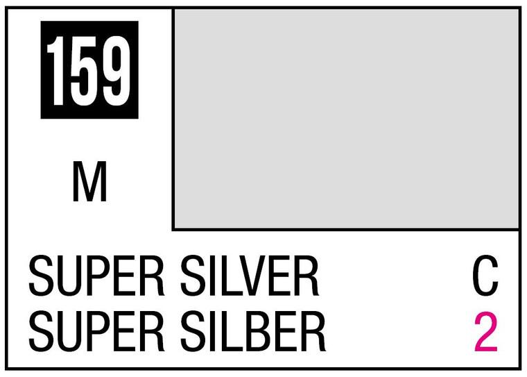 Mr. Color 159 - Super Silver (Metallic/Car) - 10ml