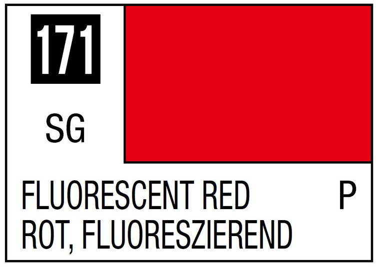 Mr. Color 171 Gloss Fluorescent Red 10ml, GSI