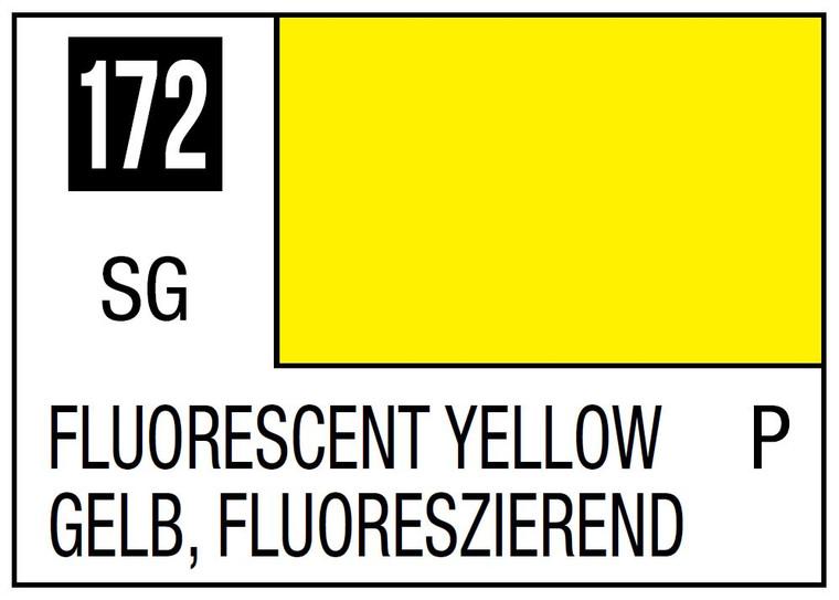 Mr. Color 172 Semi Gloss Fluorescent Yellow 10ml, GSI