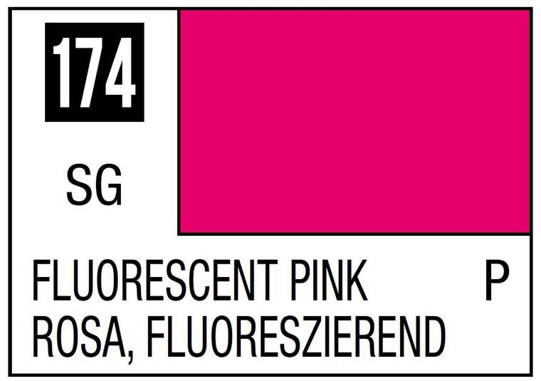 Mr. Color 174 Semi Gloss Fluorescent Pink 10ml, GSI