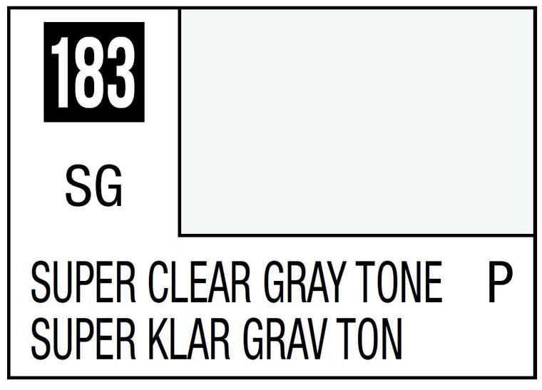 Mr. Color 183 Semi Gloss Super Clear Gray Tone 10ml, GSI