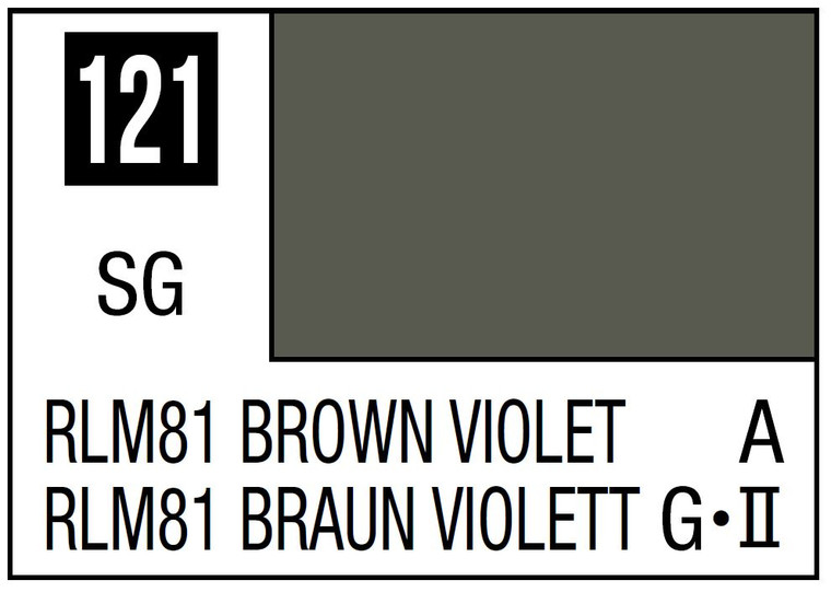Mr. Color 121 Semi Gloss RLM81 Brown Violet 10ml, GSI