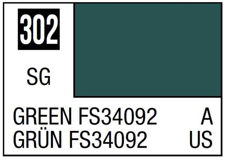 Mr. Color 302 Semi Gloss Green FS34092 10ml, GSI