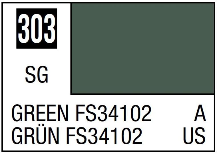 Mr. Color 303 Semi Gloss Green FS34102 10ml, GSI