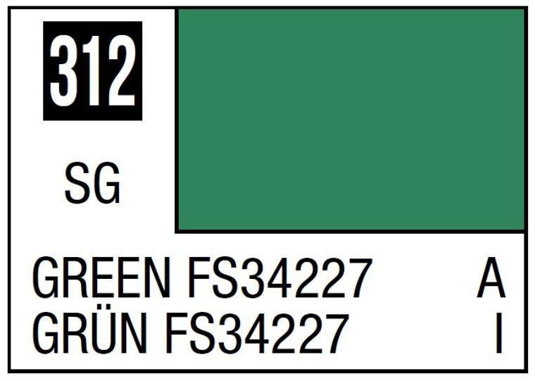 Mr. Color 312 Semi Gloss Green FS34227 10ml, GSI