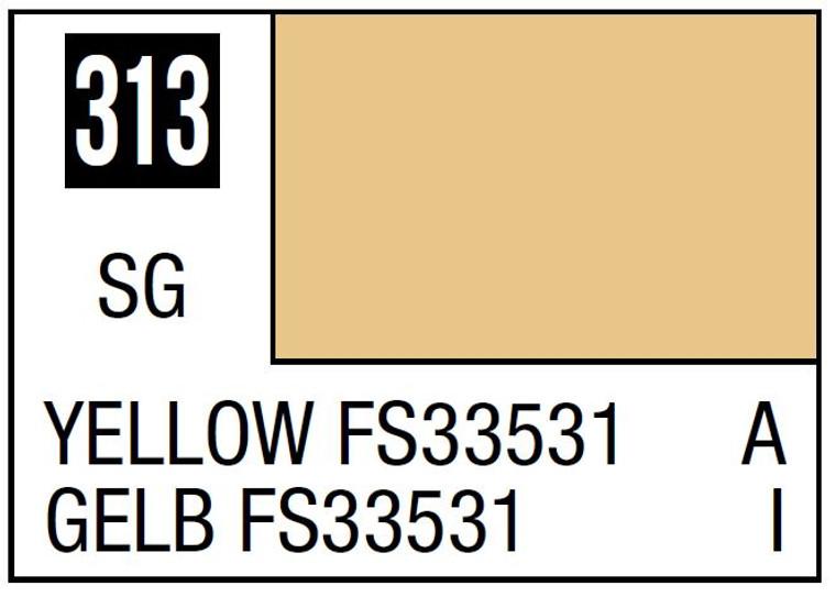 Mr. Color 313 Semi Gloss Yellow FS33531 10ml, GSI