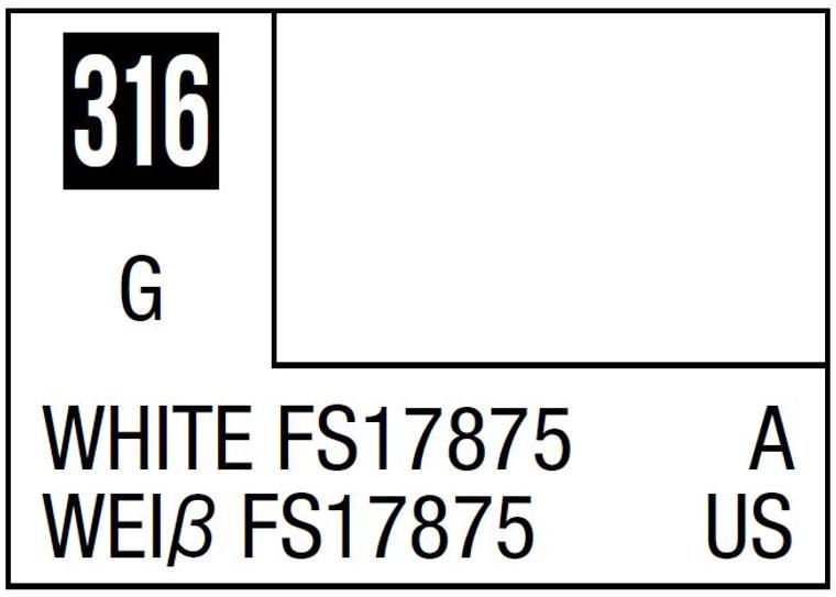 Mr. Color 316 Semi Gloss White FS17875 10ml, GSI