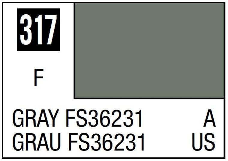Mr. Color 317 Semi Gloss Gray FS36231 10ml, GSI