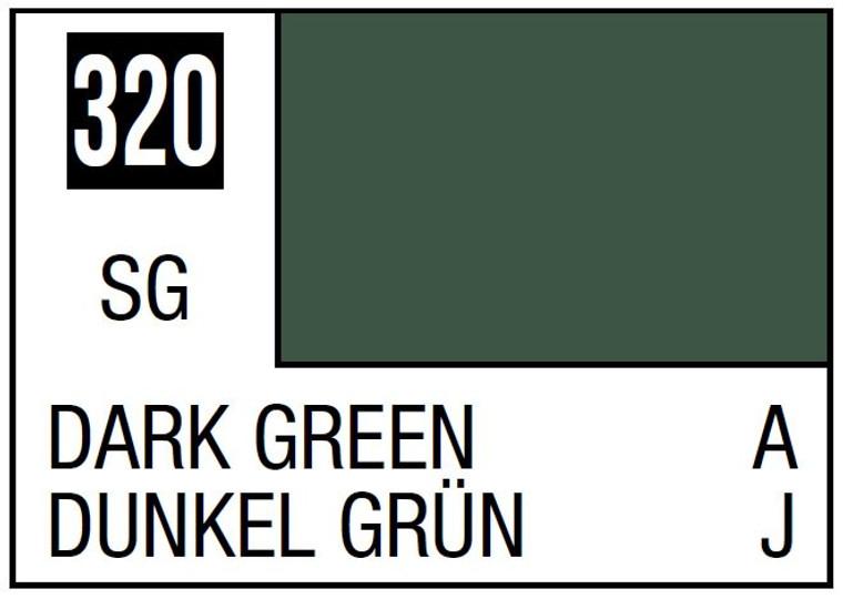Mr. Color 320 Semi Gloss Dark Green 10ml, GSI
