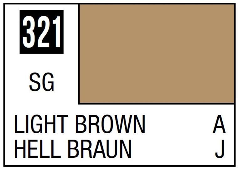 Mr. Color 321 Semi Gloss Light Brown 10ml, GSI