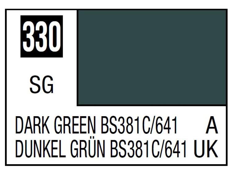 Mr. Color 330 Semi Gloss Dark Green BS381C 641 10ml, GSI