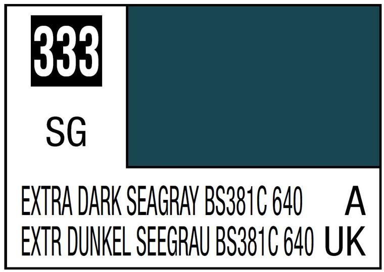 Mr. Color 333 Semi Gloss Extra Dark Seagray BS381C 640 10ml, GSI