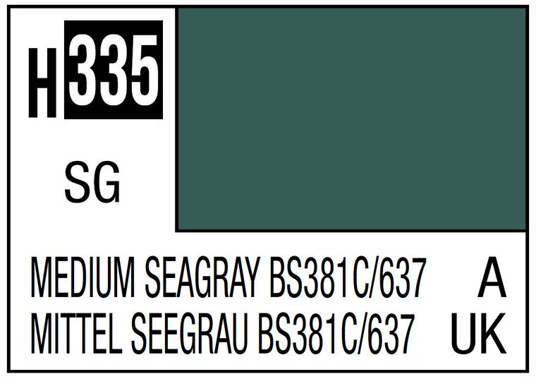 Mr. Color 335 Semi Gloss Medium Seagray BS381C 637 10ml, GSI