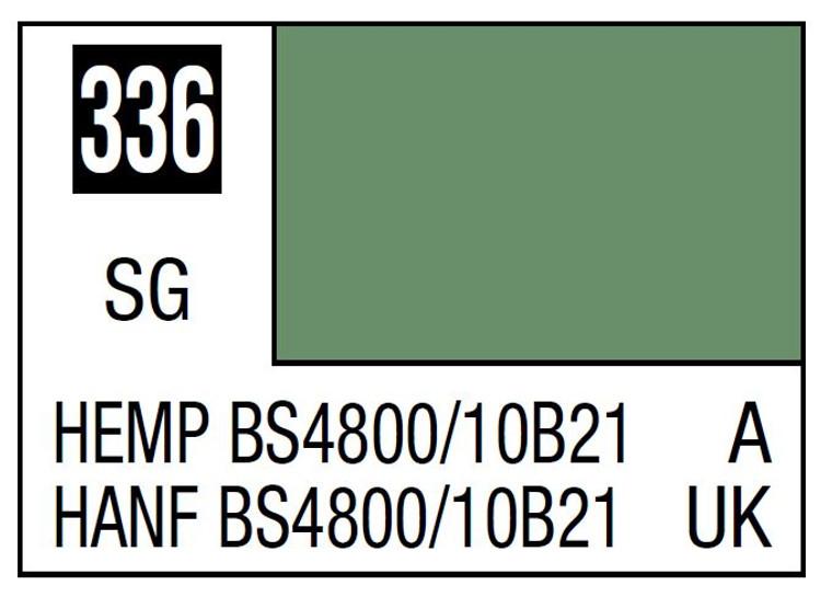 Mr. Color 336 Semi Gloss Hemp BS4800 10B21 10ml, GSI