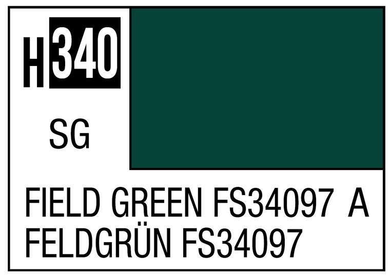 Mr. Color 340 Semi Gloss Field Green FS34097 10ml, GSI