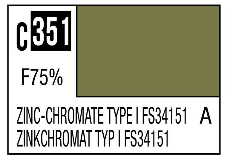 Mr. Color 351 Zinc-Chromate Type FS34151 GSI