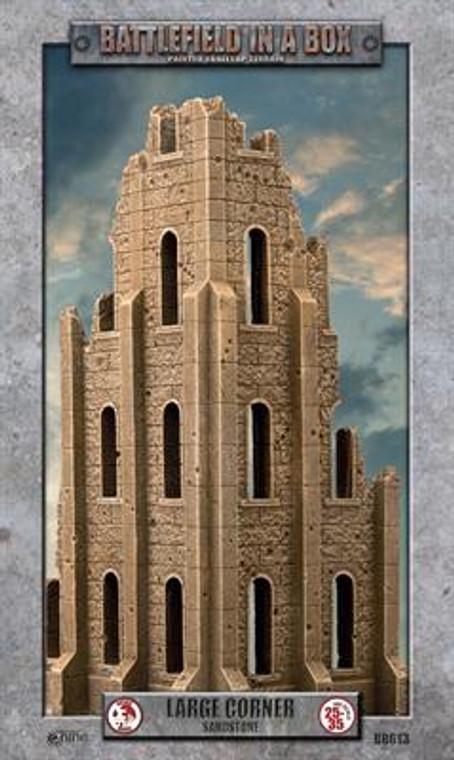 BB613 Gothic Battlefields - Large Corner - Sandstone
