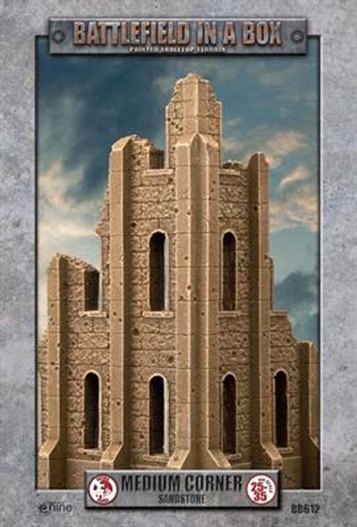 BB612 Gothic Battlefields - Medium Corner - Sandstone