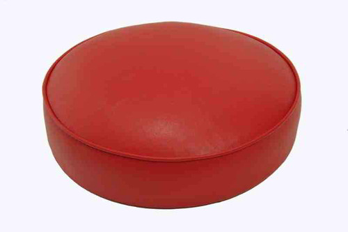 "14"" Round Replacement Seats shown in red vinyl"