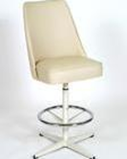 Seats and Stools High Back Bucket Replacements in white vinyl