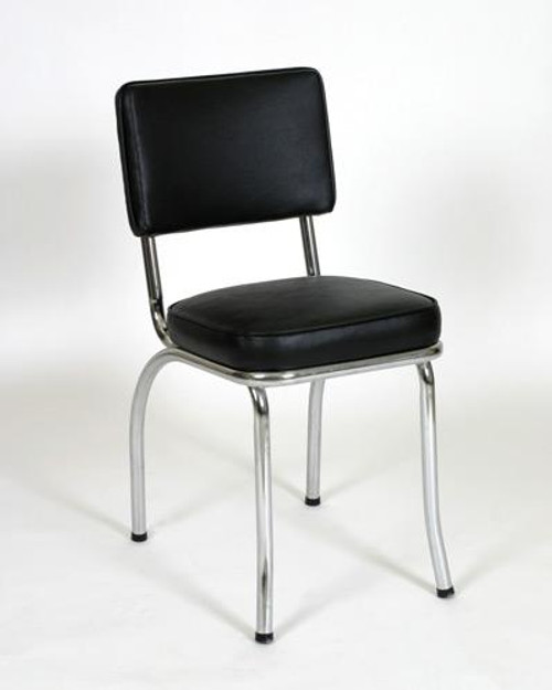 Classic Diner Chair 1 in black vinyl | Seats and Stools