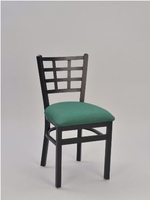 Window Pane Metal Chair